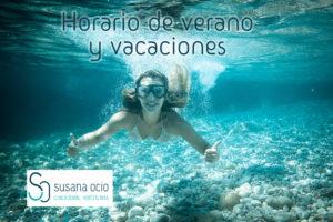 horario verano y vacaciones